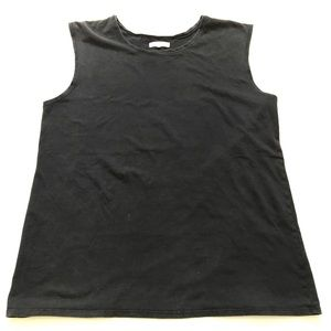 EACH X OTHER Paris Navy Muscle Shirt Size Large